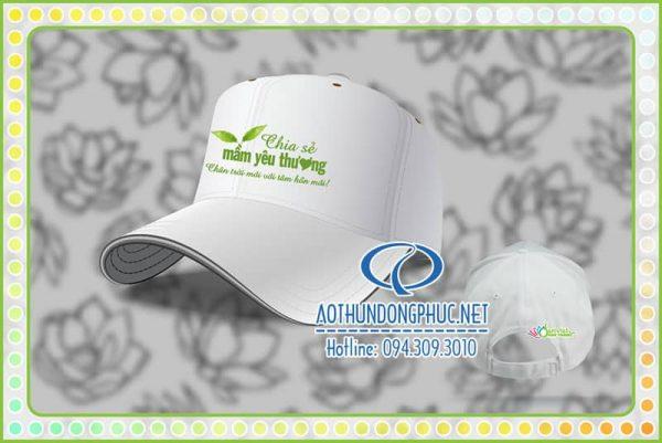 May in thêu mũ nón công ty Sen Việt