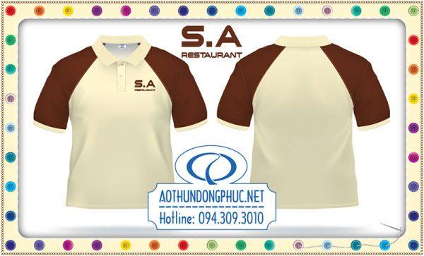 Mẫu áo thun raglan đồng phục nhà hàng S.A