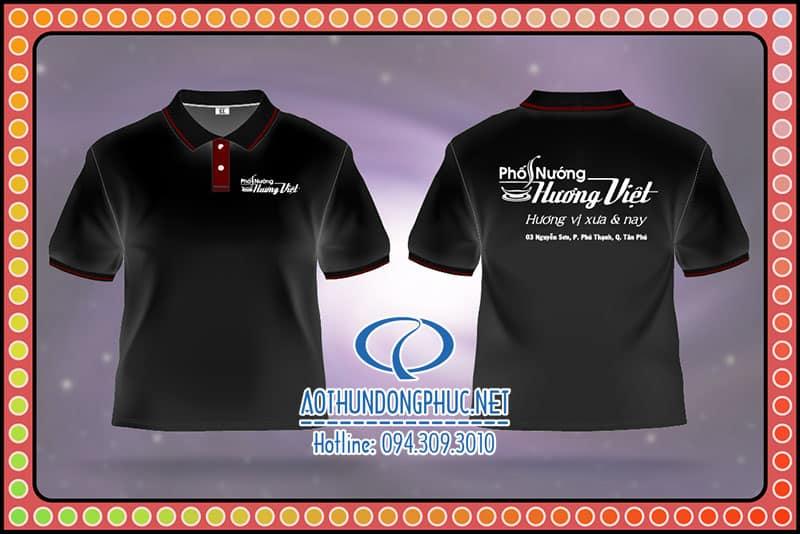 Đồng phục áo thun nhân viên phục vụ phố nướng Hương Việt